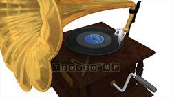 映像CG 蓄音機 レコードプレーヤー120425-003