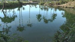 TORAGET hot spring, source of fountain Lake Green Lake-5 Indonesia, Manado