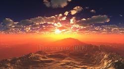 Sunrise-CG mountain video