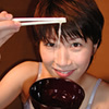 Japanese henati! Cum drinking bowl, eat with chopsticks! Mochizuki, Masako's daily sermon