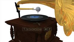 映像CG 蓄音機 レコードプレーヤー120425-004